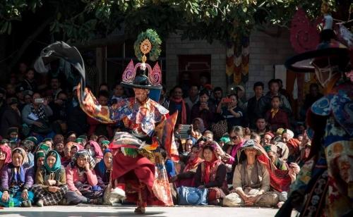 Tengboche monastery Mani Rimdu festival